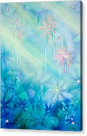 Luminous Garden Acrylic Print by Michelle Wiarda