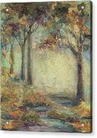 Acrylic Print featuring the painting Luminous Landscape by Mary Wolf