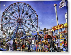 Luna Park 2013 - Coney Island - Brooklyn - New York Acrylic Print by Madeline Ellis