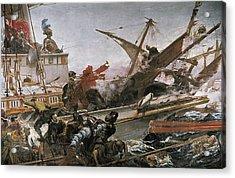 Luna Y Novicio, Juan 1857-1899. Naval Acrylic Print by Everett