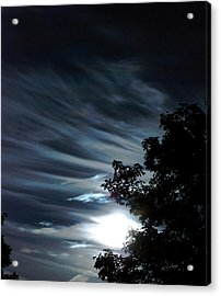 Lunar Art Acrylic Print by Optical Playground By MP Ray