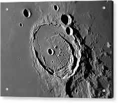 Lunar Crater Posidonius Acrylic Print by Damian Peach