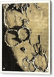Lunar Craters, 19th Century Acrylic Print