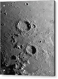 Lunar Craters Aristoteles And Eudoxus Acrylic Print by Damian Peach