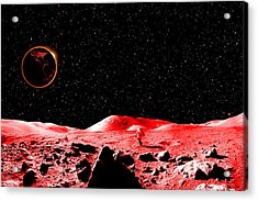 Lunar Eclipse As Seen From The Moon Acrylic Print by J D Owen