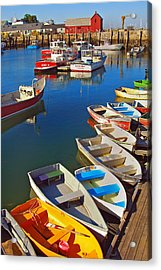 Lunch At The Harbor Acrylic Print by Joann Vitali
