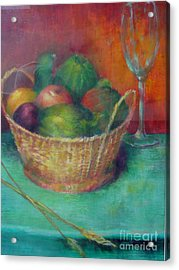 Lunch In Tuscany  Copyrighted Acrylic Print by Kathleen Hoekstra