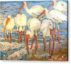 Lunch On The Beach With Friends  Acrylic Print