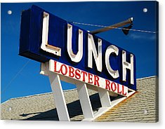Lunch Time Acrylic Print by James Kirkikis
