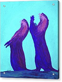 Acrylic Print featuring the painting Lunchtime by Margaret Saheed