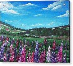 Lupine Hills Acrylic Print by Anastasiya Malakhova