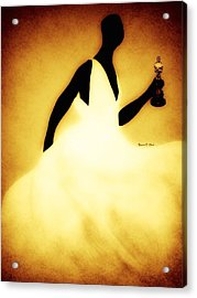 Lupitagoldenchic Acrylic Print by Romaine Head