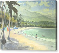 Luquillo Beach Acrylic Print by Marcus Thorne