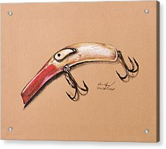 Acrylic Print featuring the drawing Lure by Aaron Spong