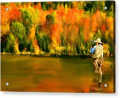 Lure Of Fly Fishing Acrylic Print by Lourry Legarde