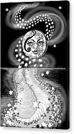 Acrylic Print featuring the digital art Lure Of Moonlight by Carol Jacobs