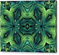 Luscious Greenery Acrylic Print by Georgiana Romanovna