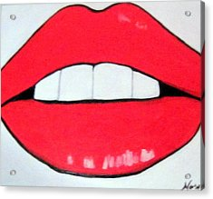 Acrylic Print featuring the painting Luscious Lips by Nora Shepley