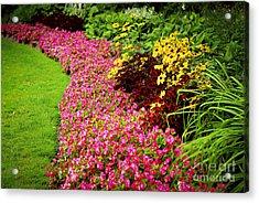 Lush Summer Garden Acrylic Print by Elena Elisseeva