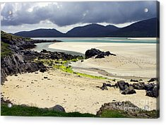 Acrylic Print featuring the photograph Luskentyre Bay by Jacqi Elmslie