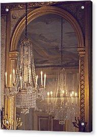 Lustre De Fontainebleau - Paris Chandelier Acrylic Print