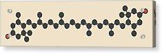 Lutein Carotenoid Molecule Acrylic Print by Molekuul