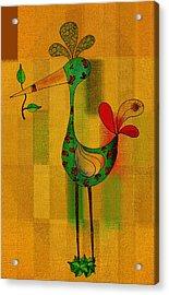 Lutgarde's Bird - 061109106-wyel Acrylic Print