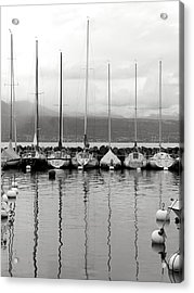 Lutry Port Acrylic Print by Colleen Williams
