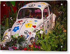 Luv Bug In The Garden Acrylic Print by Garry Gay