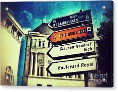 Luxembourg City Acrylic Print
