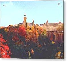 Luxembourg City Skyline Acrylic Print