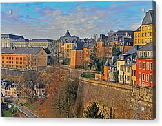 Luxembourg Fortification Acrylic Print