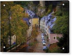 Acrylic Print featuring the photograph Luxembourg - Grund by Maciej Markiewicz