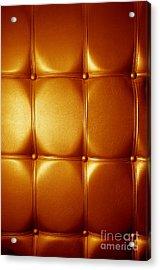 Luxury Genuine Leather. Golden Color Acrylic Print by Michal Bednarek