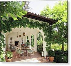 Luxury Villa Near Green Garden Acrylic Print
