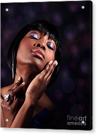 Luxury Woman's Portrait Acrylic Print