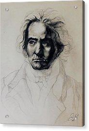 L.v. Beethoven Acrylic Print by Raymond Perez