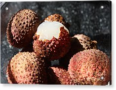 Acrylic Print featuring the photograph Lychees by Julie Alison