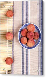 Lychess With Bamboo Mat Acrylic Print