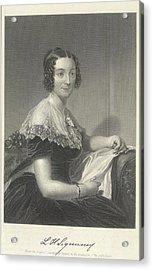 Lydia Huntley Sigourney Acrylic Print