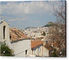 Lykabytos View Acrylic Print by Greek View