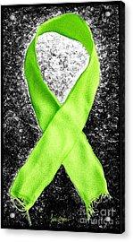 Lyme Disease Awareness Ribbon Acrylic Print by Luke Moore