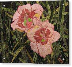 Lynda's Daylilies Acrylic Print by Lynda K Boardman