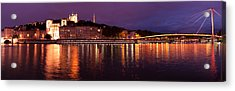 Lyon At Dusk Acrylic Print by Phyllis Peterson
