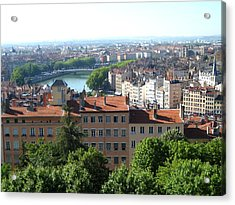 Lyon From Above Acrylic Print by Dany Lison