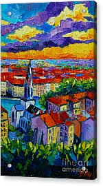 Lyon View 3 Acrylic Print by Mona Edulesco