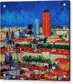 Lyon View From Jardins Des Curiosites  Acrylic Print