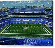 M And T Bank Stadium Acrylic Print by Robert Geary