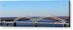 Acrylic Print featuring the photograph M Bridge Memphis Tennessee by Barbara Chichester