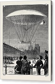 M. Dupuy De Lmes New Navigating Balloon The Ascent At Fort Acrylic Print by English School